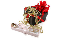 Gift set with beads Stock Photography