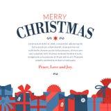 Gift set - christmas presents, anniversary celebration Stock Photos