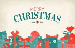 Gift set - christmas presents, anniversary celebration Royalty Free Stock Photography