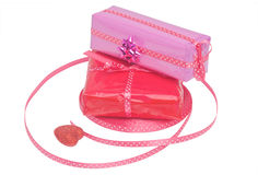 Gift set with ribbon  Royalty Free Stock Photography