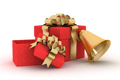 Gift set on a white background. Royalty Free Stock Images