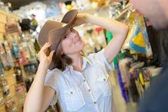 At the gift shop. Shop stock photos