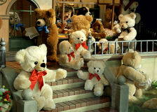 Gift shop. Different children's toys in the store royalty free stock image
