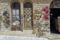 Gift shop in El castell de guadalest Royalty Free Stock Images