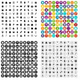 100 gift shop icons set variant. 100 gift shop icons set in 4 variant for any web design isolated on white vector illustration