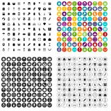 100 gift shop icons set vector variant. 100 gift shop icons set vector in 4 variant for any web design isolated on white Stock Image