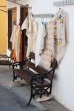 Gift shop in Lefkara, Cyprus stock photos