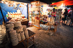 Gift shop at night Royalty Free Stock Photos