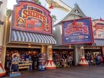 Gift shop at Paradise Pier, Disney California Adventure Park. ANAHEIM, CALIFORNIA - FEBRUARY 13: Gift shop at Paradise Pier  at Disney California Adventure Park Royalty Free Stock Photography