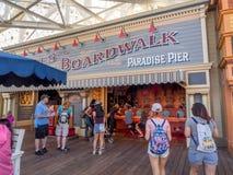 Gift shop at Paradise Pier, Disney California Adventure Park. ANAHEIM, CALIFORNIA - FEBRUARY 13: Gift shop at Paradise Pier  at Disney California Adventure Park Stock Images