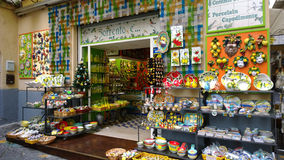 Gift shop in Sorrento. (Italy Stock Photography