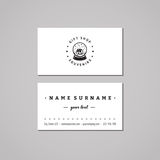 Gift shop and souvenirs business card design concept. Gift shop logo with snow globe with house. Vintage, hipster and retro style. Royalty Free Stock Photography