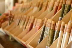 Gift shop in Versailles spices Stock Photo