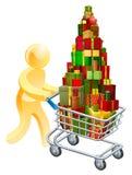 Gift shopper concept Stock Image