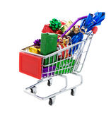 Gift shopping Stock Images