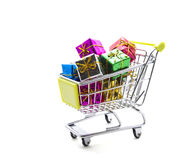 Gift Shopping Royalty Free Stock Photography