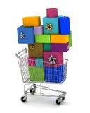 Gift shopping Stock Photos