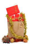 Gift in a shopping bag Stock Images
