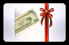Gift or shopping card template. Stock Photography