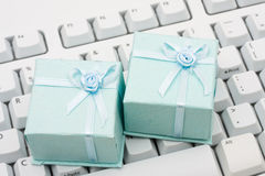 Gift Shopping Online Stock Image