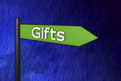 Gift sign Royalty Free Stock Image