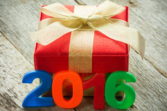 Gift and a 2016 sign Stock Photo