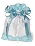 Gift silk sack Royalty Free Stock Images