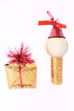 Gift and small man Stock Images