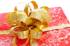 Gift with snow Stock Photography
