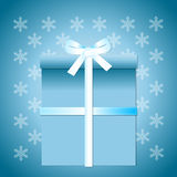 Gift and snowflakes Royalty Free Stock Photography