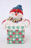 Gift with snowman Stock Images