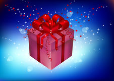 Gift, souvenir on a holiday Royalty Free Stock Images