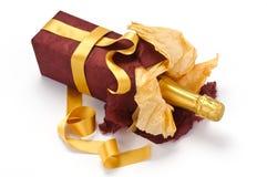 Gift sparkling wine bottle Royalty Free Stock Image