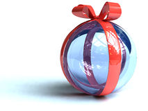 Gift sphere. Red sphere for a  gift Royalty Free Stock Photography