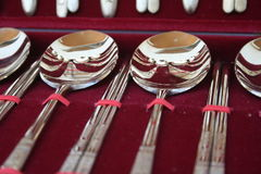 Gift spoons. Gifts spoons and chopsticks in korea royalty free stock images