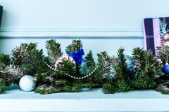 Gift with spruce branch and bump Royalty Free Stock Images