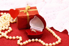 Gift for St. Valentine Day celebration Royalty Free Stock Photo