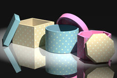 Gift stamped boxes Royalty Free Stock Image