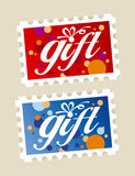 Gift stamps. Stock Photo