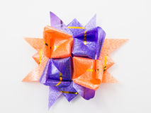 Gift star bows with ribbons Royalty Free Stock Photos
