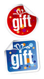 Gift stickers Royalty Free Stock Photo