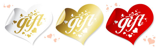 Gift stickers. Royalty Free Stock Photography