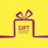 Gift in the style of origami ribbon, vector Stock Images