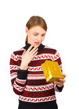 Gift surprise stock photography
