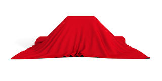 Gift Or Surprise Container Covered With Red Cloth Royalty Free Stock Photography