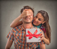 Gift surprise royalty free stock photo