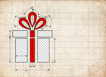 Gift. A gift that is a surprise for a loved one Stock Photography