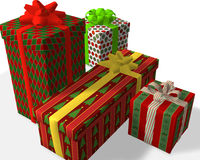 Gift Surprise. Gift Surprise with various shapes and colors royalty free illustration