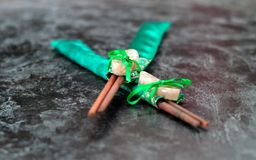 Gift of sushi sticks with stones Stock Photos