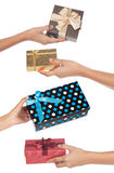 Gift Swap Royalty Free Stock Photos